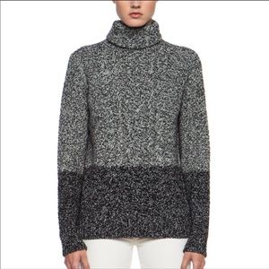 Vince turtleneck sweater chunky cable knit yak